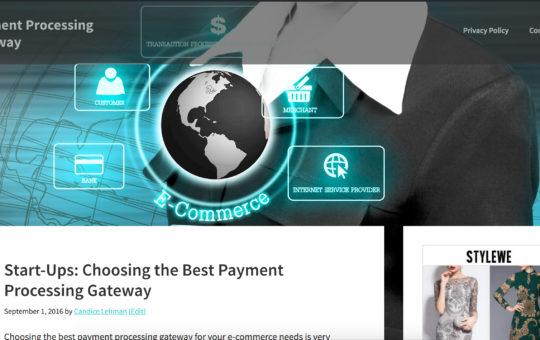 Payment Processing Gateway Website